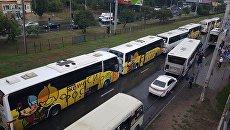 В Ростове-на-Дону столкнулись четыре экскурсионных автобуса с детьми. 2 сентября 2017