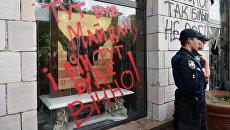 В Киеве разгромили магазин из-за стертых граффити времен евромайдана