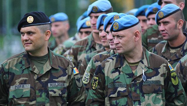Военнослужащие ВС Молдовы во время Международных военных учений Rapid trident
