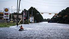 Наводнение после урагана Харви в Хьюстоне штат Техас. 30 августа 2017