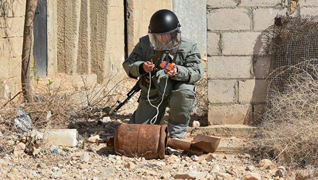 Российские саперы разминировали 838 зданий и 87 километров дорог в Сирии