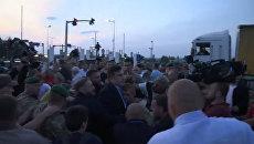 Потасовка на границе и митинг: как Саакашвили вернулся на Украину