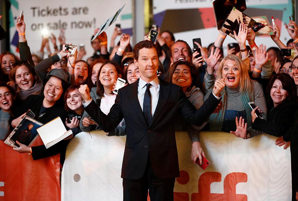 Британский актер Бенедикт Камбербэтч на Международном кинофестивале в Торонто. 9 сентября 2017