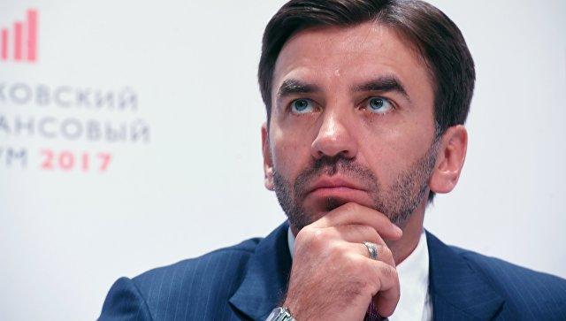 Министр РФ Михаил Абызов на Московском финансовом форуме 2017 в Москве