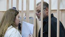 Заместитель директора ФСИН России Олег Коршунов в Басманном суде города Москвы, где рассматривается вопрос об избрании ему меры пресечения. 14 сентября 2017
