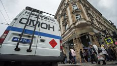 Автомашина правоохранительных органов в центре Санкт-Петербурга. Архивное фото