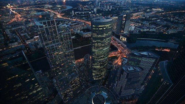 Вид с 89-го этажа Башни Федерация-Восток делового комплекса Москва-Сити, где строится самая высокая смотровая площадка в Европе PANORAMA-36