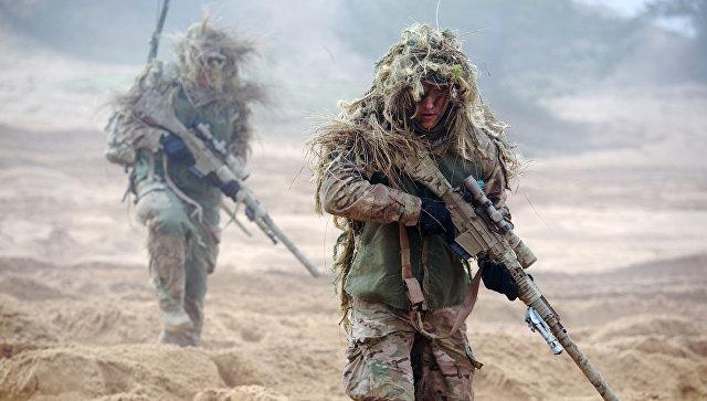 Военнослужащие НАТО во время учений в Латвии. Архивное фото