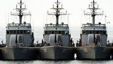 Южнокорейские корабли. Архивное фото