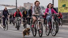 Участники Московского Велопарада. Архивное фото