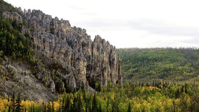 Национальный природный парк Ленские столбы в Якутии. Архивное фото