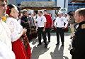 Глава Кубани Вениамин Кондратьев вместе с председателем краевого Заксобрания Владимиром Бекетовым и вице-губернаторами посетил интерактивно-развлекательные и концертные площадки