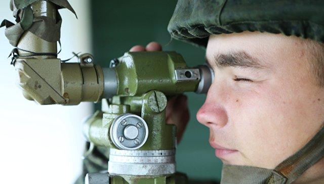 Тактическое учение мотострелков Балтийского флота. Архивное фото