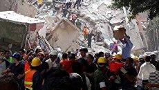 Землетрясение в Мексике. Архивное фото