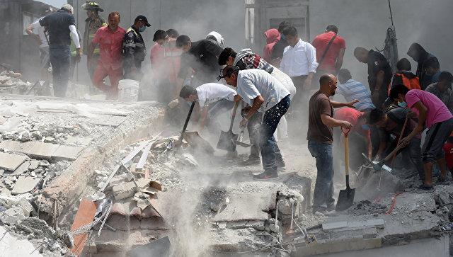 ВМексике в итоге землетрясения погибло очень много людей