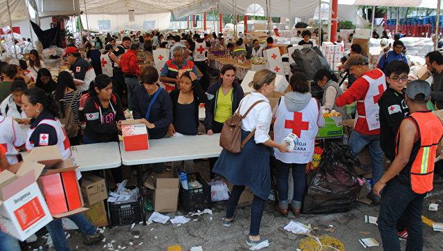 Землетрясение в Мексике: Красный крест помогает ликвидировать последствия