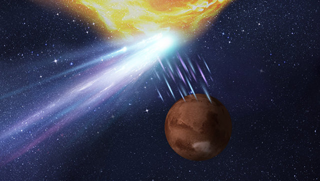 Вспышка наСолнце помешала ученым увидеть встречу Марса скометой