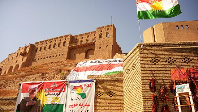 Агитационные плакаты, призывающие прийти на участки и проголосовать на референдуме о независимости Иракского Курдистана от Багдада, в Эрбиле