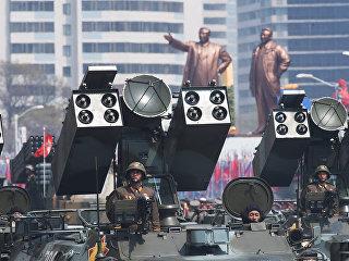 Зенитно-ракетный комплекс Корейской народной армии во время парада в Пхеньяне. Архивное фото
