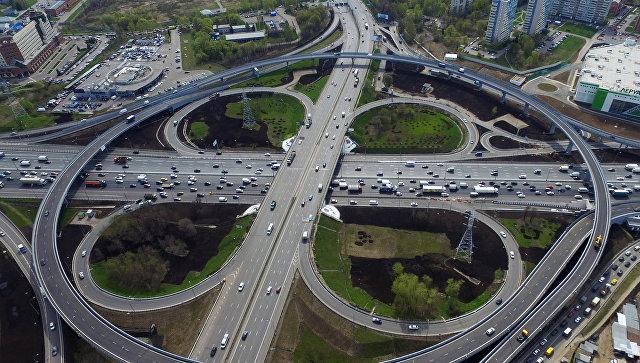 Развязка Каширского шоссе с МКАД. Архивное фото