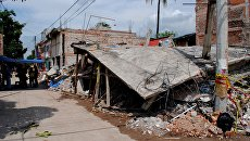 Дома в городе Хохутла в Мексике, разрушенные в результате землетрясения. Архивное фото