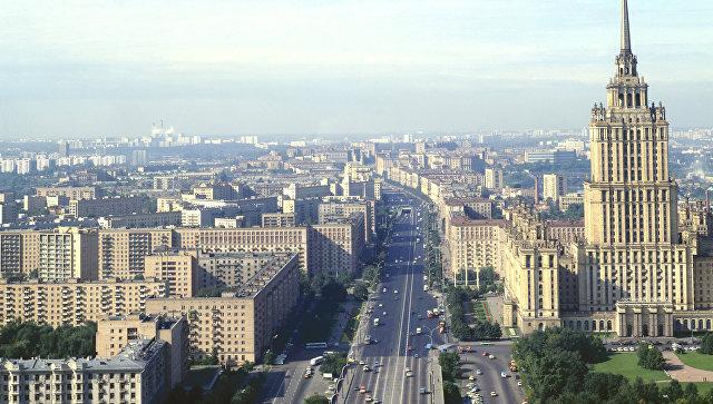 Вид на Кутузовский проспект