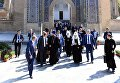 Патриарх Московский и Всея Руси Кирилл во время посещения мавзолея Гур-Эмир и усыпальницы Тамерлана в Самарканде