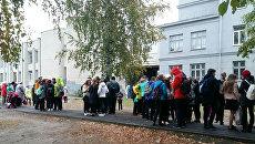 Эвакуация школы в Нижнем Новгороде. 2 октября 2017