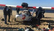 Легкомоторный самолет, разбившийся в Самаре. 2 октября 2017