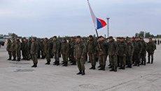 Солдаты на совместном учении России и Узбекистана. 3 октября 2017