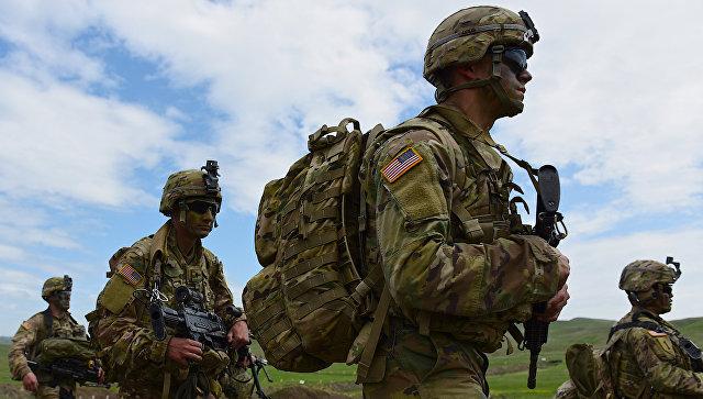 Военнослужащие США во время военных учений. Архивное фото