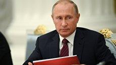 Президент РФ Владимир Путин на заседании Совета при президенте РФ по развитию физической культуры и спорта. 3 октября 2017