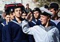 Участники гражданско-патриотической акции День призывника во Владивостоке. 4 октября 2017