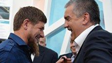 Рамзан Кадыров и Сергей Аксенов. Архивное фото
