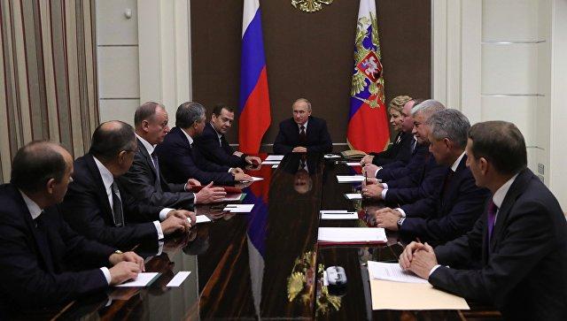 Президент Путин обсудил Сирию на совещании  Совбеза