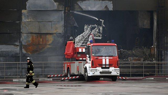 Последствия пожара в торговом центре Синдика