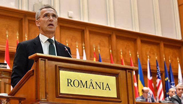 Генеральный секретарь НАТО Йенс Столтенберг на Парламентской ассамблее альянса в Бухаресте