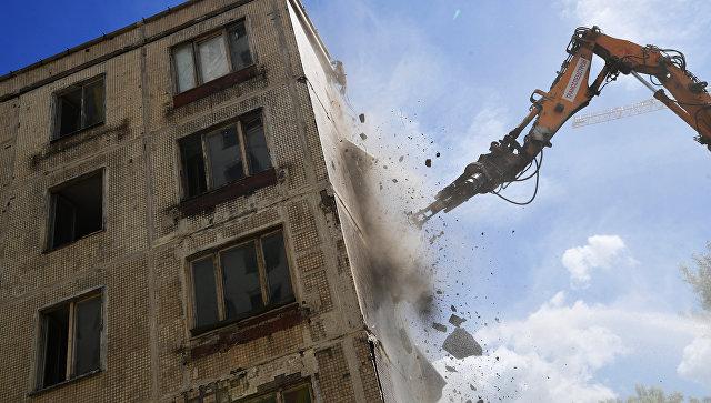 Снос последней пятиэтажки серии К-7 в Северном административном округе Москвы