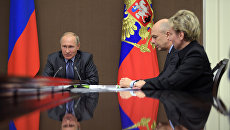 Президент РФ Владимир Путин проводит совещание по вопросу использования цифровых технологий в финансовой сфере и внедрения инновационных финансовых инструментов. 10 октября 2017