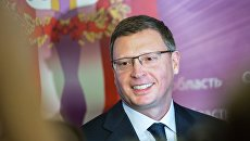 Временно исполняющий обязанности губернатора Омской области Александр Бурков после церемонии представления в конференц-зале областного правительства. 11 октября 2017