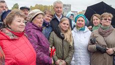 Сергей Собянин во время церемонии открытия парка усадьбы Михалково. 11 октября 2017