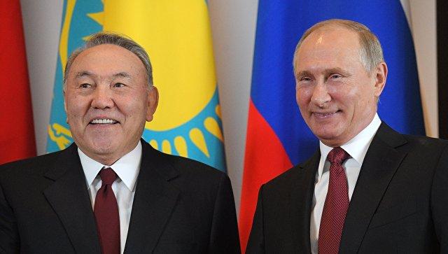 Путин поздравил Назарбаева с25-летием российско-казахстанских отношений