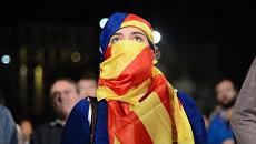 Участники референдума о независимости Каталонии. Архивное фото