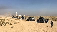 Иракские военные вблизи нефтяных месторождений в Киркуке, Ирак. 16 октября 2017