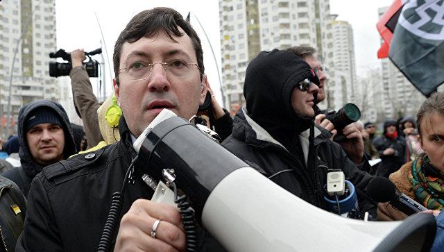 Председатель Национального наблюдательного комитета общественно-политической организации Русские Александр Белов-Поткин принимает участие в Русском марше в Москве. Архивное фото