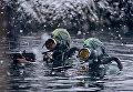 Бойцы отряда подводно-диверсионных сил и средств