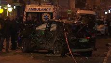 Полиция оцепила место ДТП, унесшего жизни пятерых человек в Харькове