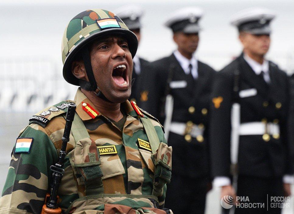 Индийский военнослужащий на учениях Индра – 2017 во Владивостоке