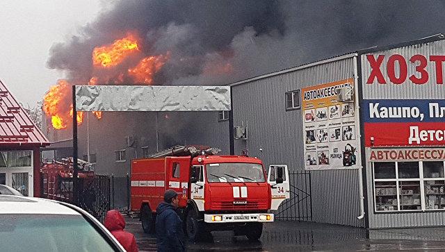 Пожар нарынке под Ростовом-на-Дону на100%  устранили