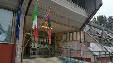 Участок для голосования на референдуме об автономии в области Венето, Италия. 22 октября 2017